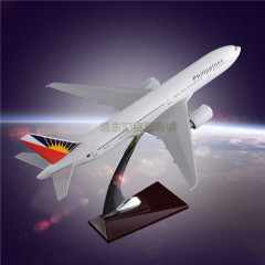 Aircraft Model Simulation OEM Boeing 777 Philippine Airlines Emulational Model Plane Resin