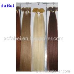 Natural Pre-Bonded Keratin Remy Nail Hair / U-Tip Human Hair Extension