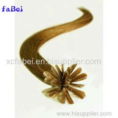 factory wholesale price 100% unprocessed virgin hair extensions in Dubai shedding free hot selling flat tip keratin hair