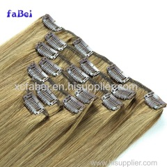 Promotion Distributer Wanted Cheap Thick Blond Unprocessed Virgin Human Hair Clip In Hair Extensions