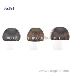 Hot Sale Wholesale Silky Straight Front Neat Bangs Clip In Hair Fringe Extension Fake Hair Fringe Piece