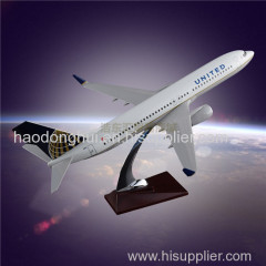 Customized Airplane Model OEM Boeing 737 United Airlines Model Aircraft