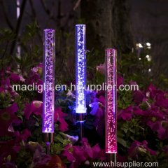 Garden Solar Lights Outdoor Tube Acrylic Bubble RGB Color Changing Stake Lights
