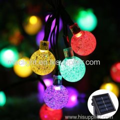 Outdoor Solar Fairy Bubble Crystal Ball String Lighting