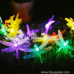 Solar Fairy Lights Dragonfly for Outdoor Home Lawn Wedding Decorations Multi Color