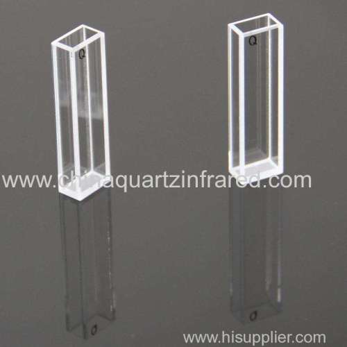 10mm standard quartz spectrophotometer cuvette for lab