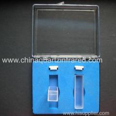 10mm standard quartz spectrophotometer cuvette for lab