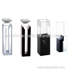 optical quartz flow spectrophotometer cuvette with stainless tube