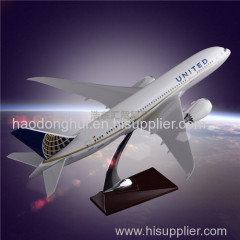 Customized Gift Plane Model Boeing 787 United Airlines Aircrafts Resin Manufacturer