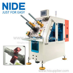 Automatic stator coil insertion coil winding inserting machine