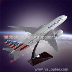 Simulation Aircraft Model OEM Boeing 787 American Airlines Model Aircrafts Resin Factory Direct Sales