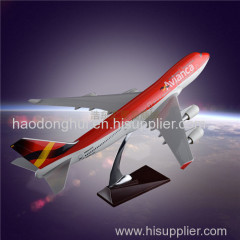 Static Model Plane Simulation Aircraft Model Factory OEM Avianca S.A. Airlines Boeing 747