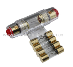 4 / 8 Gauge AGU Fuse Holder Gold Plated Car Audio