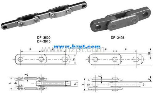 Double Flex Chain DF-3500 DF-3910 DF-3498 For Heavy Duty Conveyor