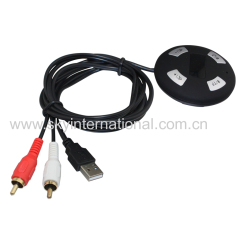 Bluetooth Module With 2Rca Input For Car Radio Stereo Wireless Music Play Hand Free Phone Call USB Power