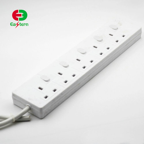 europe plug 5 outlets extension socket German electrical power strip surge protector