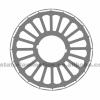 Permanent magnet motor rotor lamination