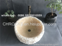 china yellow onyx bathroom round vessel sinks natural wash basin