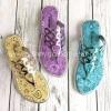 The fashion women flat flip-flops beach shoes