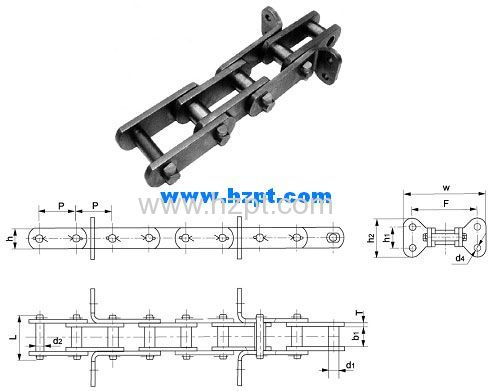 Conveyor Chain LTR665-R LTR665 for Grain Machines