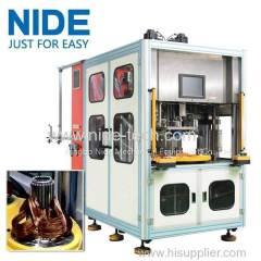 Automatic stator coil winder coil winding and inserting machine for generator motor