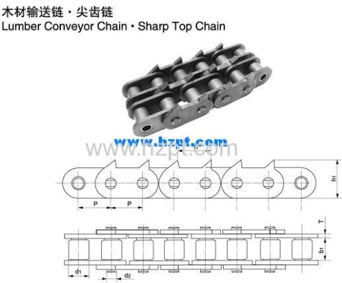 Sharp Top Chain 12A-1-2PEP 16A-1-2PEP 16B-1-2PEP For Wood Industry