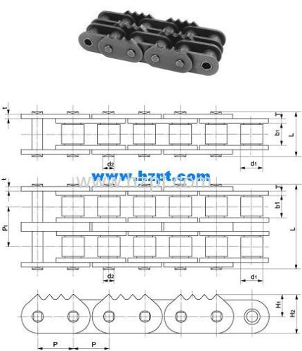 Sharp Top Chain 80-4P2P 16B-4P2P For Wood Industry
