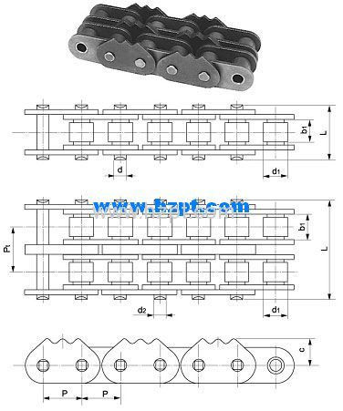 Sharp Top Chain 80-1-5PEP 80-2-5PEP 80H-2-5PEP For Wood Industry