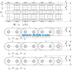 Sharp Top Chain 100-2-2PAD 100-2-SD 100-2-4PAD For Wood Industry