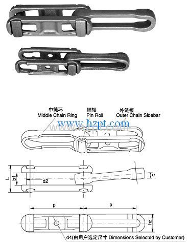 Forged Detachable Chain  678 698 698H   For Automotive  Metallurgy  Appliance Food And Other Industries