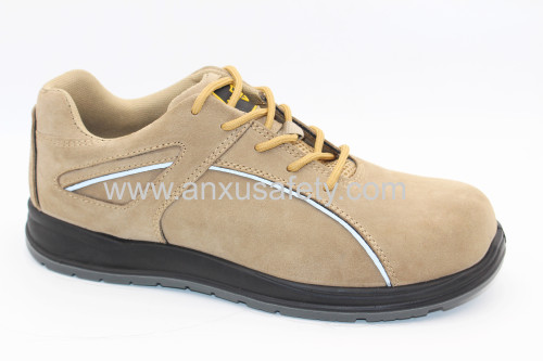 made in china suede leather safety shoes