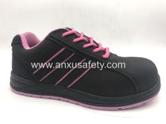lady suede leather safety shoes