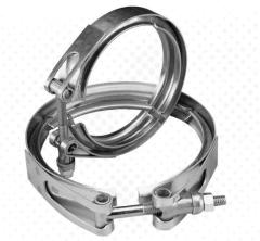 Custom strong stainless steel hose clamps heavy duty V band exhaust hose clamp