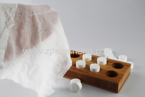 Hot selling nonwoven magic compressed coin tablet tissue