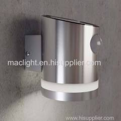 Garden Solar Powered Stainless Steel Wall Lamp With Motion Sensor
