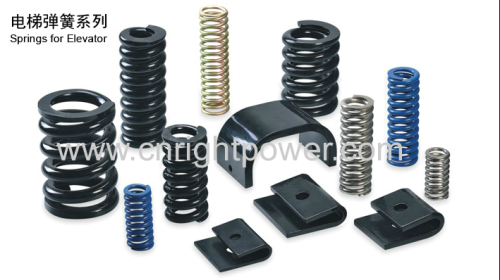 Springs for elevator and lift