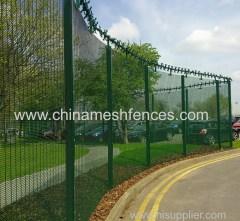 поставщик завода высокой безопасности с порошковым покрытием anti climb security 358 забор