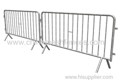 galvanized crowd control barrier cross type feet crowd control barricade 1100 mm crowd control barrier