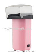 Pink minielectric hot air popcorn maker