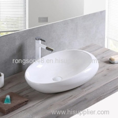 Bathroom ceramic 2018 special table mounted white color popular sale high quality wash new art sink for sale