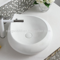 New style high quality ceramic white easy carer artistic porcelain art cheap bathroom hand wash basin sink