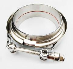 2.75''SS304 Stainless steel V band clamp kit with Aluminum alloy V band flanges professional for turbo/exhaust pipes/dow