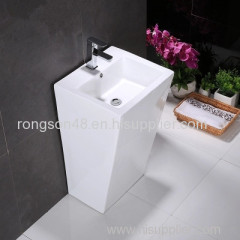 China big size floor mounted single hole one piece pedestal wash deep sink manufacturer with competitive price for sale