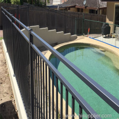 Anping factory direct sale aluminum galvanized or powder coated black retractable safety swimming pool fence