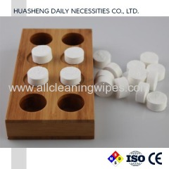 compressed towels holders trays