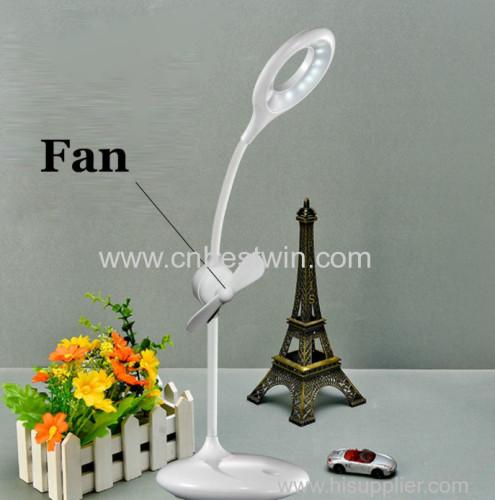 Muti-function 2 in1 Fan LED table lamp as seen on tv 2018
