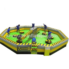 Outdoor Family Fun Meltdown Inflatable Sweeper Game