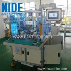 Double stations bldc stator needle winding machine