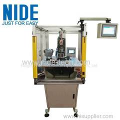Auto brushless motor stator coil winding machine with 2 needles