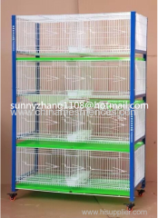 PVC coated 4 tiers 8 cells Pigeon Cages for Arab Countries
